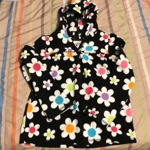 Jumping Beans girls flower pullover with hood sz6x